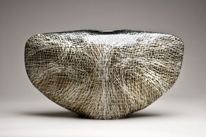 James Tower, Currents, 1980. Earthenware with pale brown and white glaze. H. 33 cm. Private collection